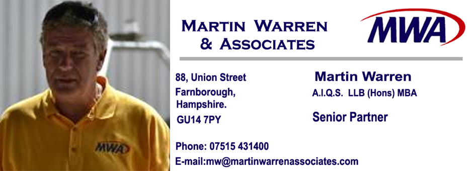 Quantity Surveyor London Hampshire Oxfordshore Surrey Martiin Warren & Associates